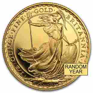 Great Britain 1/2 oz Gold Britannia BU/Proof (Random