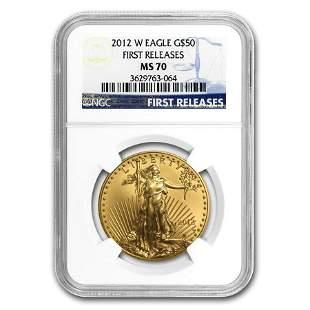 2012-W 1 oz Burnished Gold Eagle MS-70 NGC (FR)