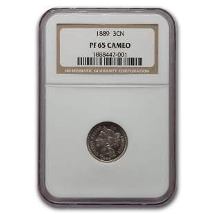1889 Three Cent Nickel PF-65 Cameo NGC