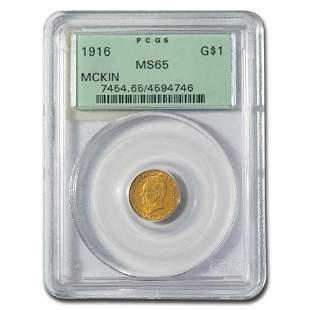 1916 Gold $1.00 William McKinley MS-65 PCGS