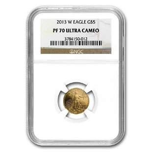 2013-W 1/10 oz Proof Gold American Eagle PF-70 NGC