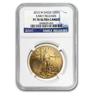 2013-W 1 oz Proof Gold American Eagle PF-70 NGC (ER)