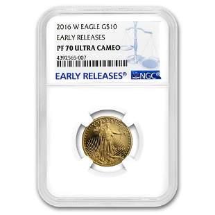 2016-W 1/4 oz Proof Gold American Eagle PF-70 NGC (ER)