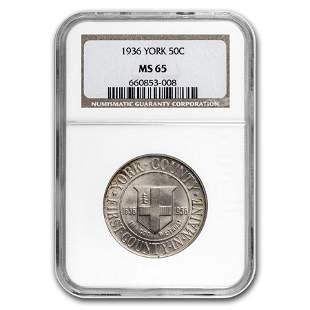 1936 York Tercentenary Half Dollar MS-65 NGC