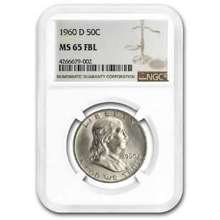 1960-D Franklin Half Dollar MS-65 NGC (FBL)