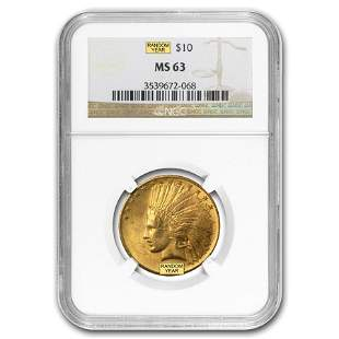$10 Indian Gold Eagle MS-63 NGC (Random)