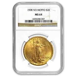 $20 Saint-Gaudens Gold Double Eagle MS-64 NGC (Random)