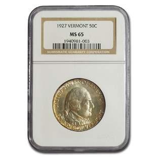 1927 Vermont Sesquicentennial Half Dollar MS-65 NGC