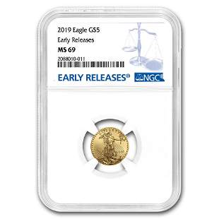 2019 1/10 oz Gold American Eagle MS-69 NGC (Early