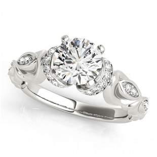 Natural 1.2 ctw Diamond Antique Ring 14k White Gold