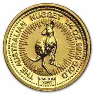 Australia 1/4 oz Gold Kangaroo/Nugget BU (Random Year)