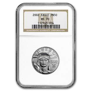 2002 1/2 oz Platinum American Eagle MS-70 NGC