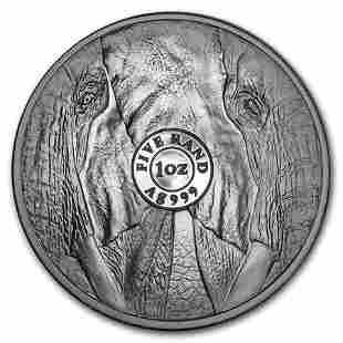 2019 South Africa 1 oz Silver Big Five Elephant BU