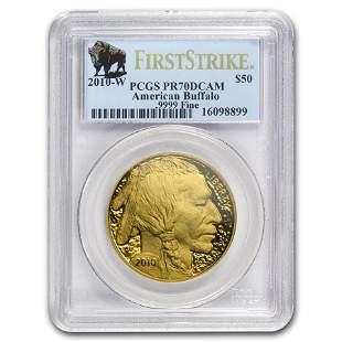2010-W 1 oz Proof Gold Buffalo PR-70 PCGS
