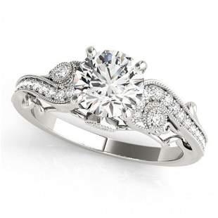 Natural 1.25 ctw Diamond Antique Ring 14k White Gold