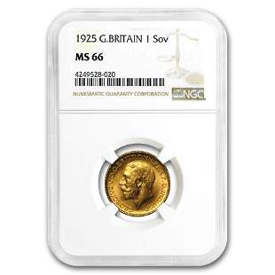 1925 Great Britain Gold Sovereign George V MS-66 NGC