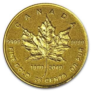 2019 Canada 1/2 Gram Pf Gold $0.25 40th Anniv of the