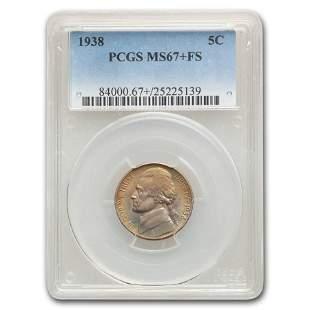 1938 Jefferson Nickel MS-67+ PCGS (FS)