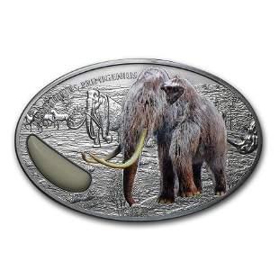 2015 Niger 2 oz Silver 1500 Francs Wooly Mammoth