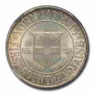 1936 York County, Maine Tercentenary Half Dollar MS-67