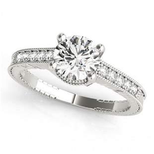 Natural 1.45 ctw Diamond Antique Ring 14k White Gold
