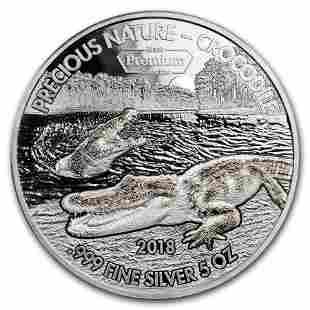 2018 Benin 5 oz Silver 5,000 Francs Precious Nature