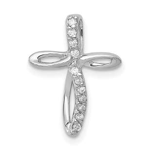 14k White Gold Passion Cross Mounting