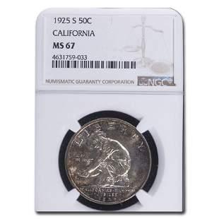 1925-S California Diamond Jubilee Half Dollar MS-67 NGC