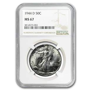 1944-D Walking Liberty Half Dollar MS-67 NGC