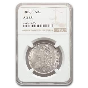 1819/8 Capped Bust Half Dollar AU-58 NGC
