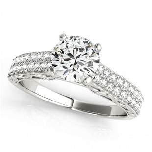Natural 1.41 ctw Diamond Antique Ring 14k White Gold