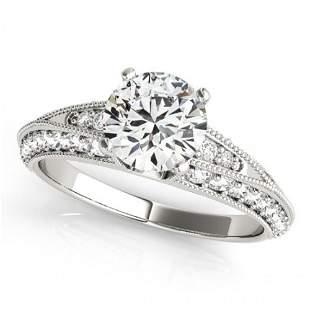 Natural 1.08 ctw Diamond Antique Ring 14k White Gold