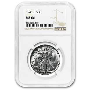 1941-D Walking Liberty Half Dollar MS-66 NGC