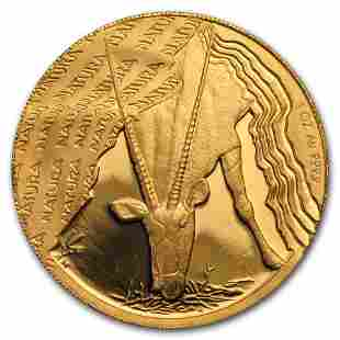 2001 South Africa 1 oz Proof Gold Natura Oryx