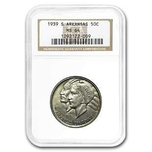 1939-S Arkansas Centennial Half Dollar MS-64 NGC