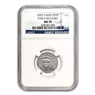 2007 1/4 oz Platinum American Eagle MS-70 NGC (Early