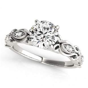 Natural 1.1 ctw Diamond Antique Ring 14k White Gold