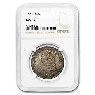 1831 Capped Bust Half Dollar MS-62 NGC