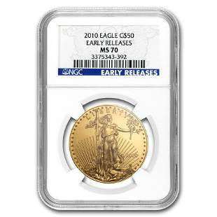 2010 1 oz Gold American Eagle MS-70 NGC (Early