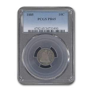 1885 Liberty Seated Dime PR-65 PCGS