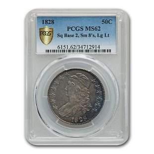 1828 Capped Bust Half Dollar MS-62 PCGS (Sq Base 2, Sm