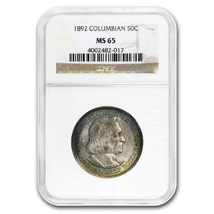 1892 Columbian Expo Half Dollar MS-65 NGC
