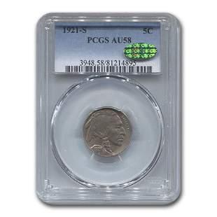 1921-S Buffalo Nickel AU-58 PCGS CAC