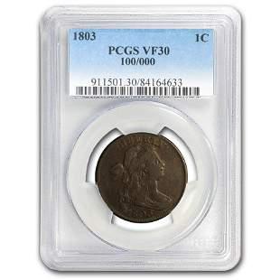 1803 Large Cent 100/000 VF-30 PCGS