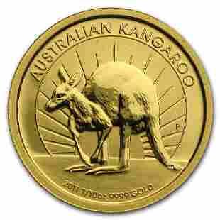 2011 Australia 1/10 oz Gold Kangaroo BU