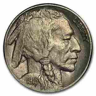 1916-S Buffalo Nickel AU