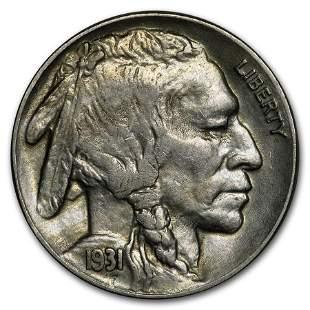 1931-S Buffalo Nickel AU
