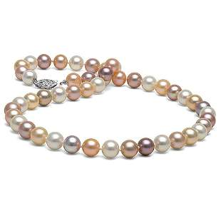 Multicolor Freshwater Pearl Necklace, 7.5-8.0mm