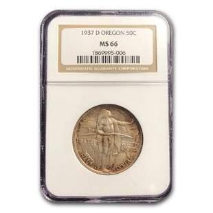 1937-D Oregon Commemorative Half Dollar MS-66 NGC