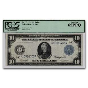 1914 (K-Dallas) $10 FRN CU-65 PPQ PCGS